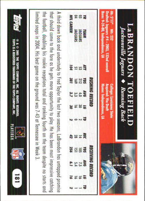 2005-Topps-First-Edition-Football-Card-Pick-1-301 thumbnail 305