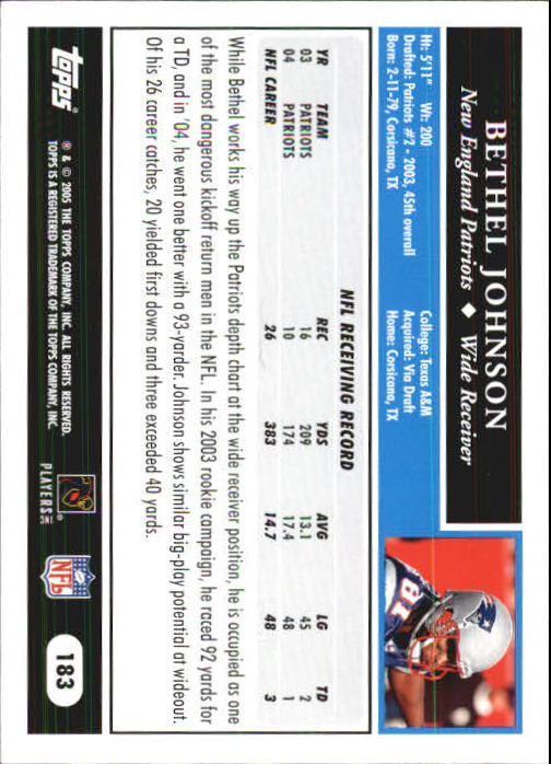 2005-Topps-First-Edition-Football-Card-Pick-1-301 thumbnail 309