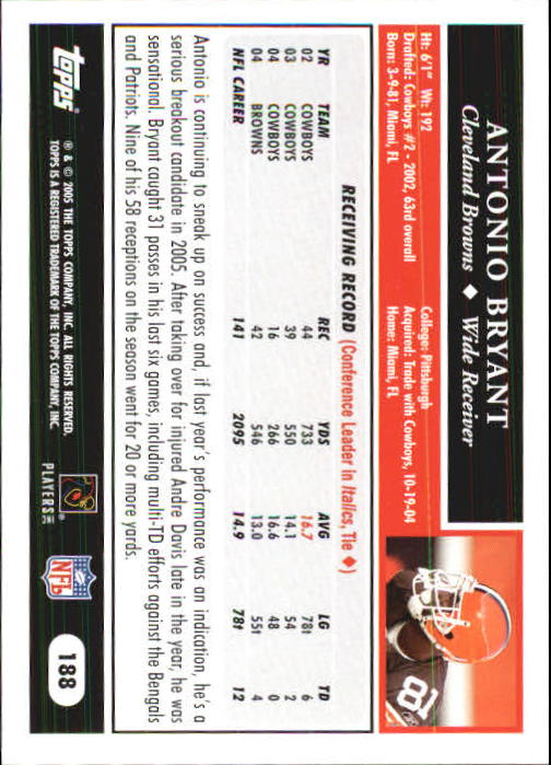 2005-Topps-First-Edition-Football-Card-Pick-1-301 thumbnail 317
