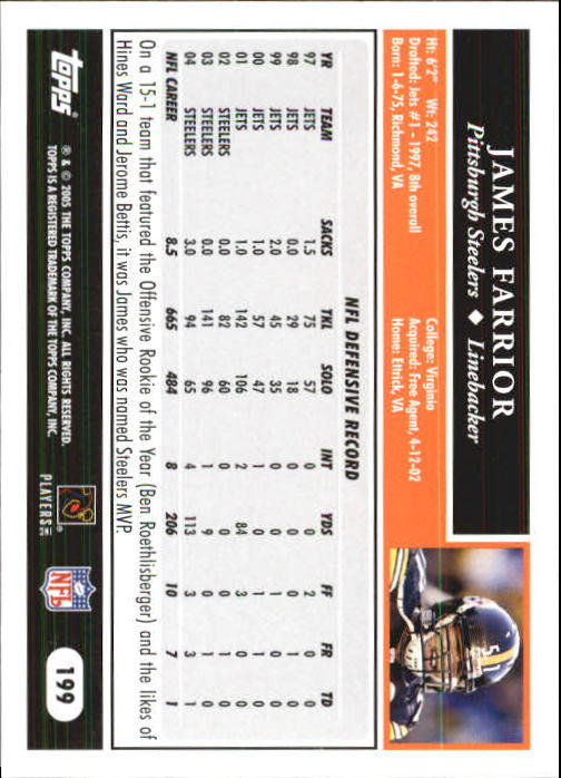 2005-Topps-First-Edition-Football-Card-Pick-1-301 thumbnail 335