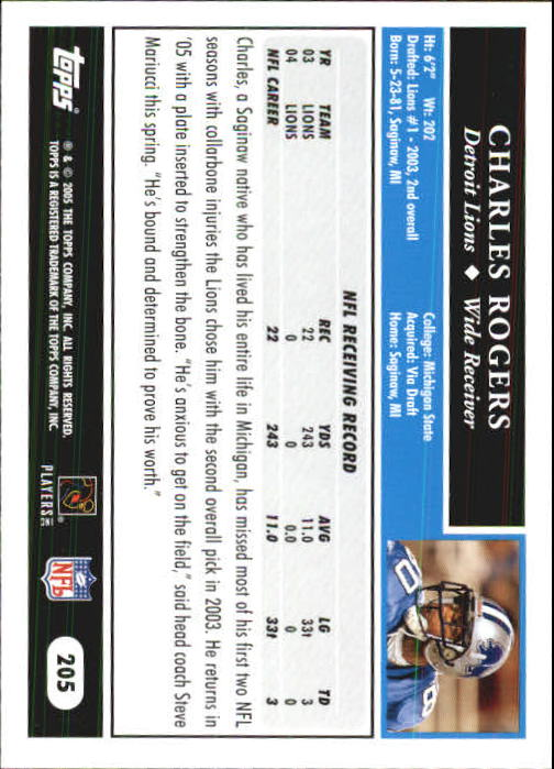2005-Topps-First-Edition-Football-Card-Pick-1-301 thumbnail 345