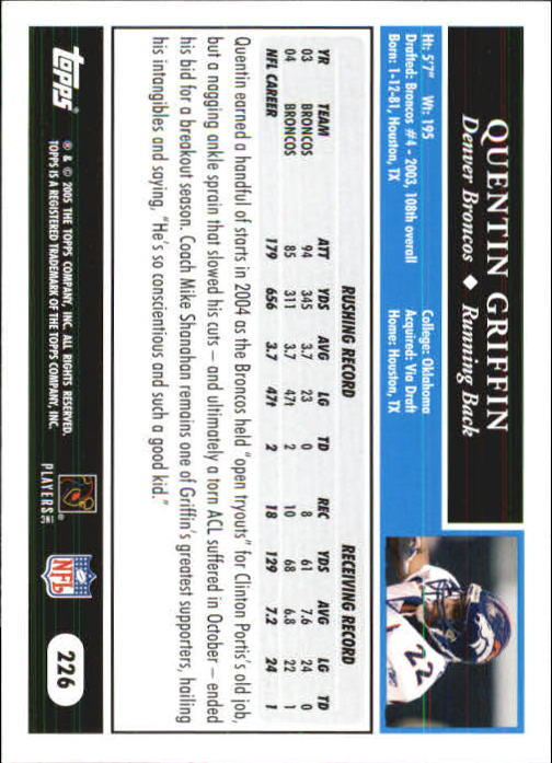 2005-Topps-First-Edition-Football-Card-Pick-1-301 thumbnail 376