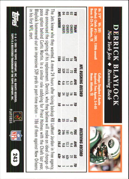 2005-Topps-First-Edition-Football-Card-Pick-1-301 thumbnail 408