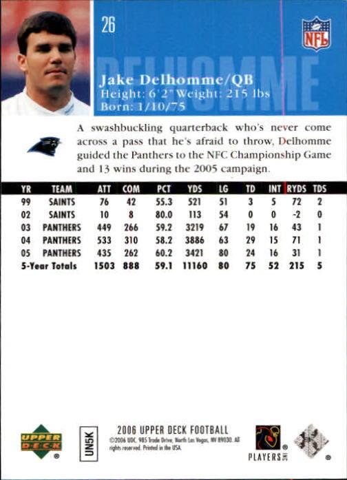2006-Upper-Deck-Football-Card-s-1-200-A2099-You-Pick-10-FREE-SHIP thumbnail 49