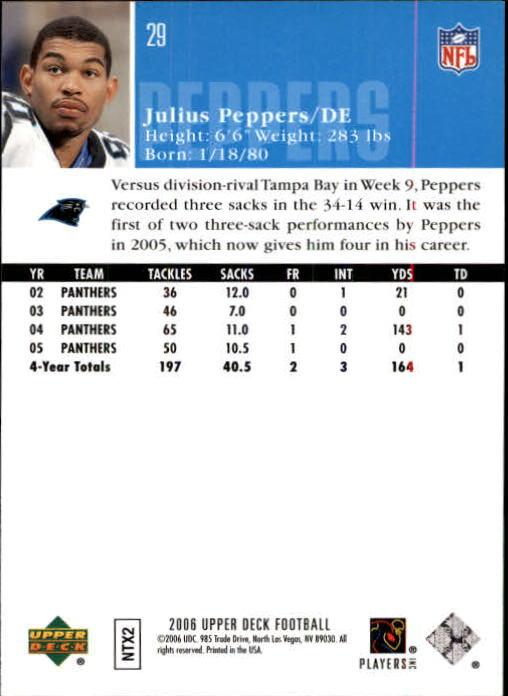 2006-Upper-Deck-Football-Card-s-1-200-A2099-You-Pick-10-FREE-SHIP thumbnail 55