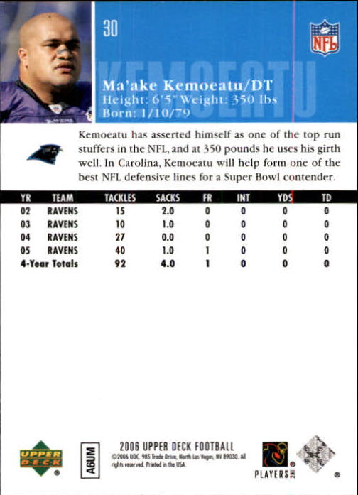 2006-Upper-Deck-Football-Card-s-1-200-A2099-You-Pick-10-FREE-SHIP thumbnail 57
