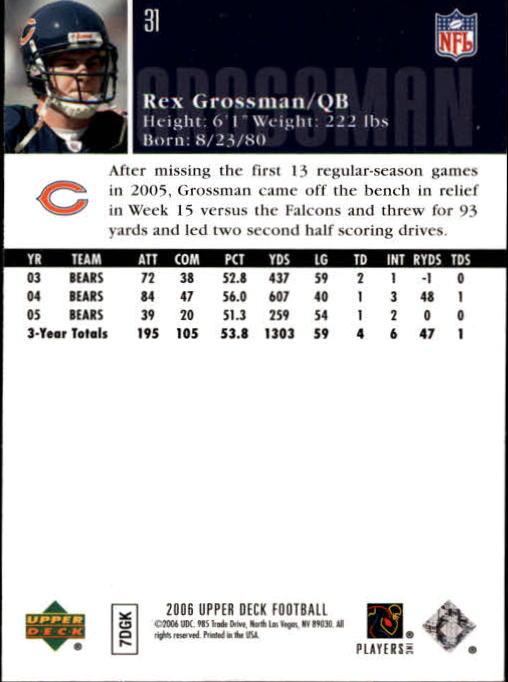 2006-Upper-Deck-Football-Card-s-1-200-A2099-You-Pick-10-FREE-SHIP thumbnail 59