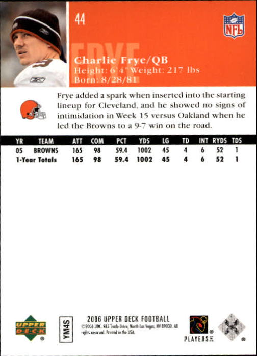 2006-Upper-Deck-Football-Card-s-1-200-A2099-You-Pick-10-FREE-SHIP thumbnail 85