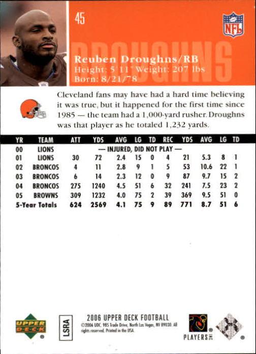 2006-Upper-Deck-Football-Card-s-1-200-A2099-You-Pick-10-FREE-SHIP thumbnail 87