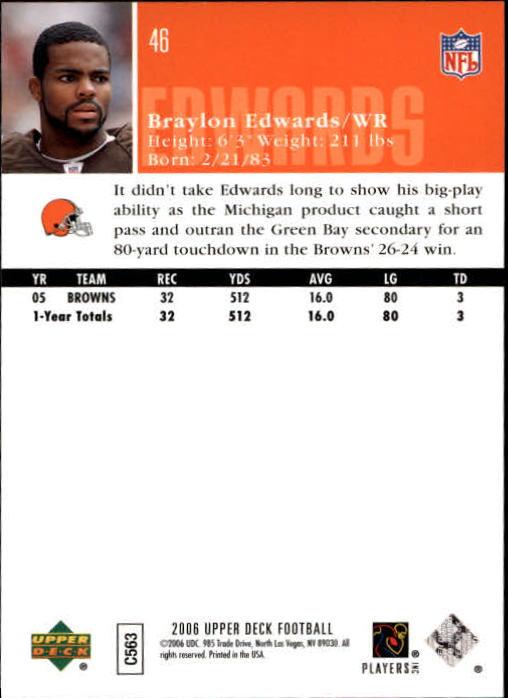 2006-Upper-Deck-Football-Card-s-1-200-A2099-You-Pick-10-FREE-SHIP thumbnail 89