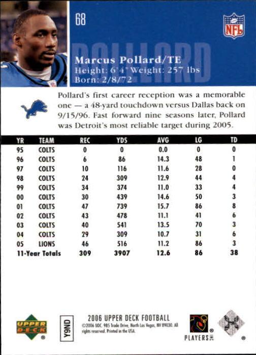 2006-Upper-Deck-Football-Card-s-1-200-A2099-You-Pick-10-FREE-SHIP thumbnail 131