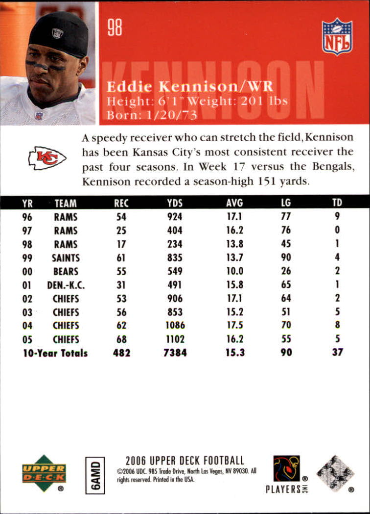 2006-Upper-Deck-Football-Card-s-1-200-A2099-You-Pick-10-FREE-SHIP thumbnail 189
