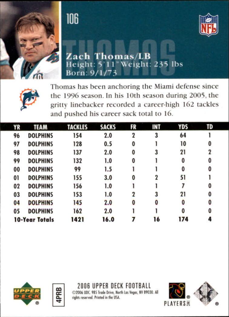 2006-Upper-Deck-Football-Card-s-1-200-A2099-You-Pick-10-FREE-SHIP thumbnail 205