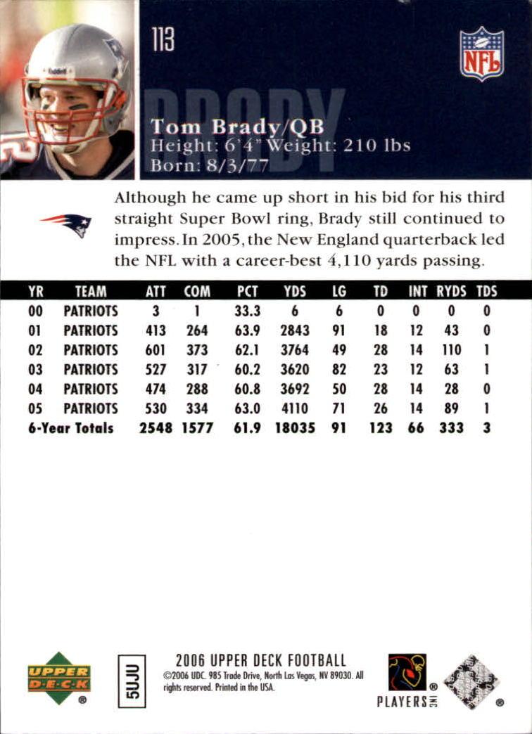 2006-Upper-Deck-Football-Card-s-1-200-A2099-You-Pick-10-FREE-SHIP thumbnail 219