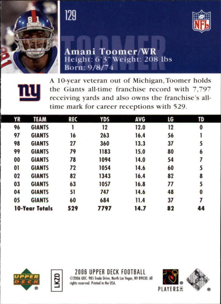 2006-Upper-Deck-Football-Card-s-1-200-A2099-You-Pick-10-FREE-SHIP thumbnail 249