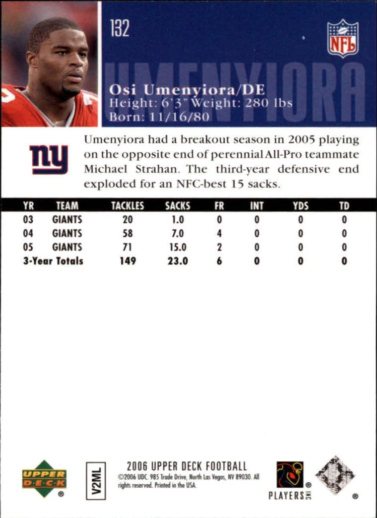 2006-Upper-Deck-Football-Card-s-1-200-A2099-You-Pick-10-FREE-SHIP thumbnail 255