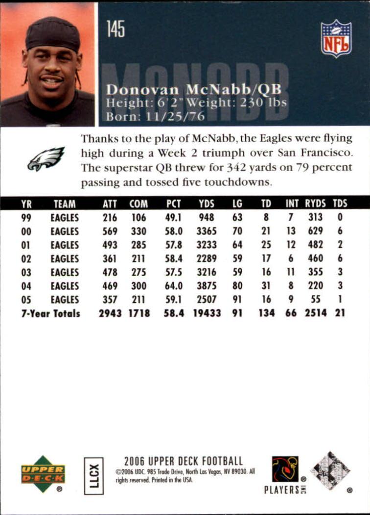 2006-Upper-Deck-Football-Card-s-1-200-A2099-You-Pick-10-FREE-SHIP thumbnail 279