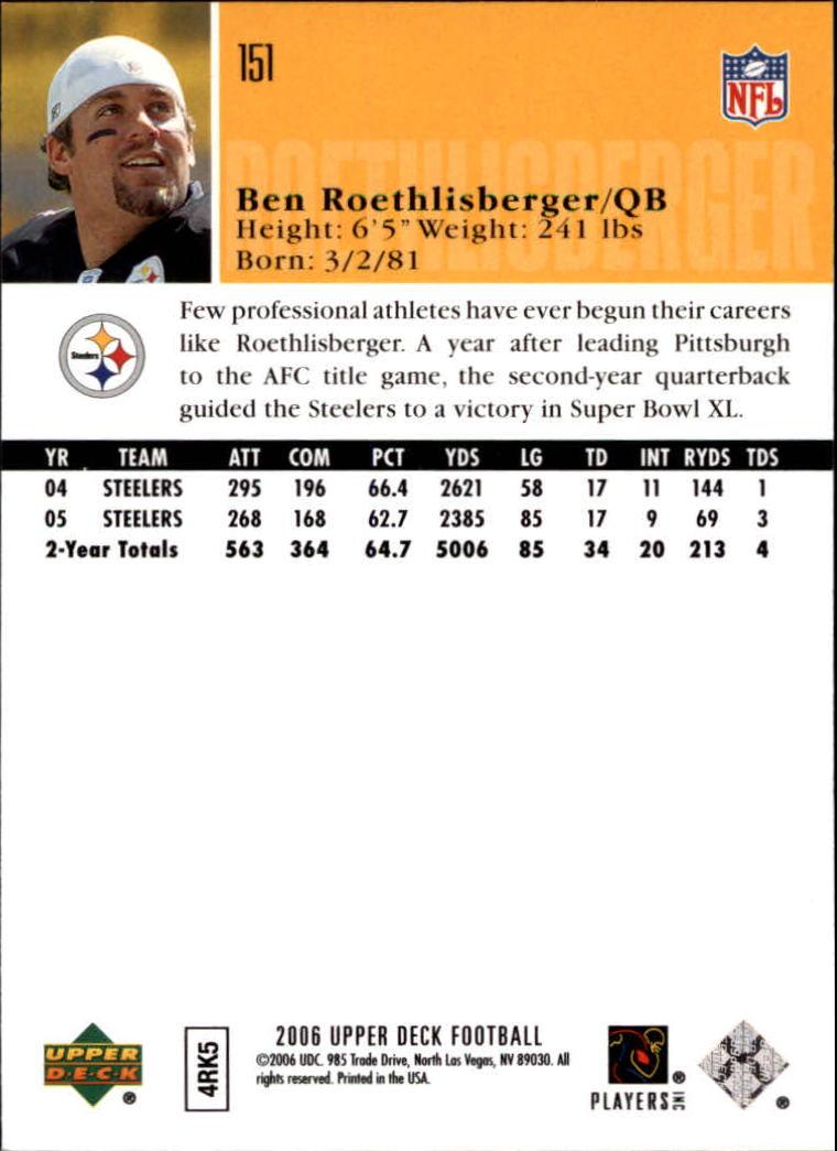 2006-Upper-Deck-Football-Card-s-1-200-A2099-You-Pick-10-FREE-SHIP thumbnail 291