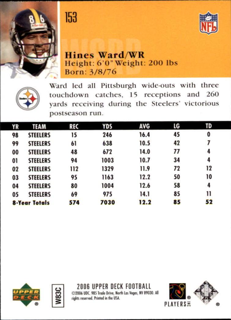 2006-Upper-Deck-Football-Card-s-1-200-A2099-You-Pick-10-FREE-SHIP thumbnail 295