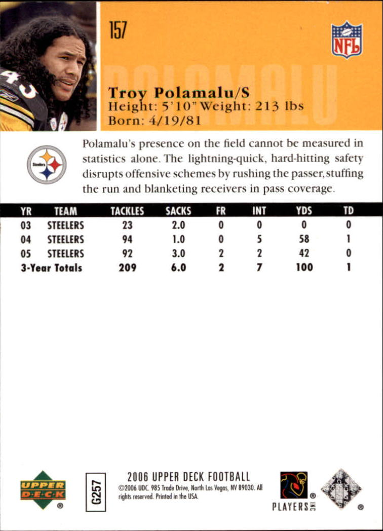 2006-Upper-Deck-Football-Card-s-1-200-A2099-You-Pick-10-FREE-SHIP thumbnail 303