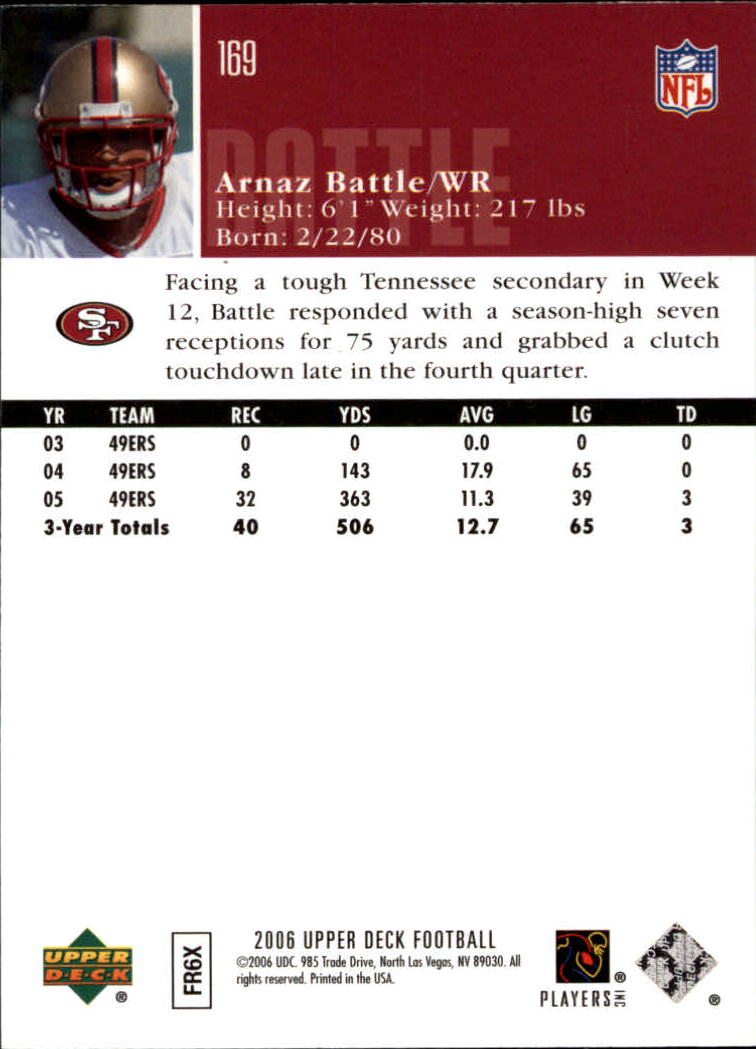 2006-Upper-Deck-Football-Card-s-1-200-A2099-You-Pick-10-FREE-SHIP thumbnail 327