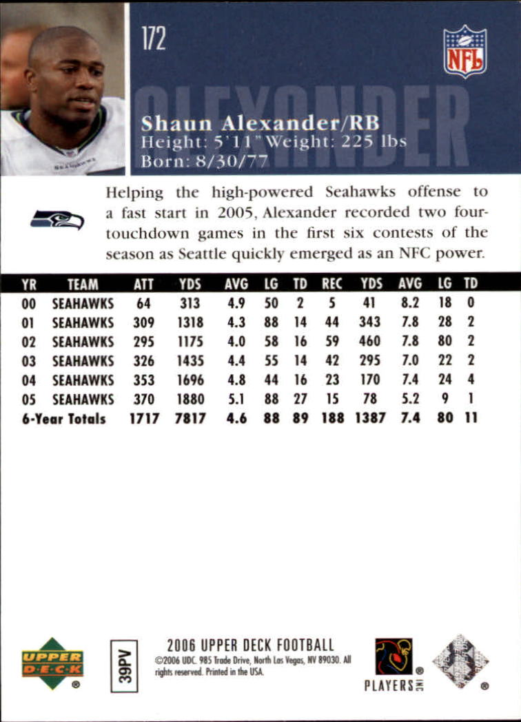 2006-Upper-Deck-Football-Card-s-1-200-A2099-You-Pick-10-FREE-SHIP thumbnail 333