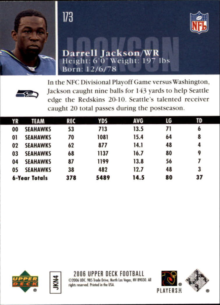 2006-Upper-Deck-Football-Card-s-1-200-A2099-You-Pick-10-FREE-SHIP thumbnail 335