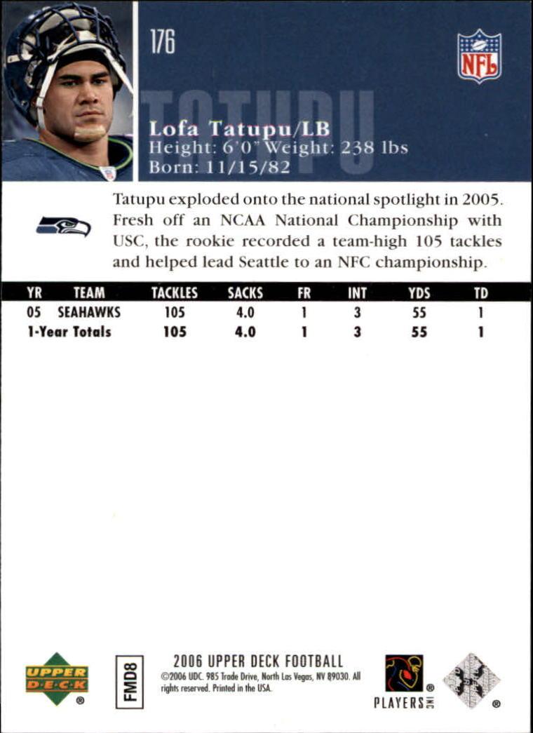 2006-Upper-Deck-Football-Card-s-1-200-A2099-You-Pick-10-FREE-SHIP thumbnail 341