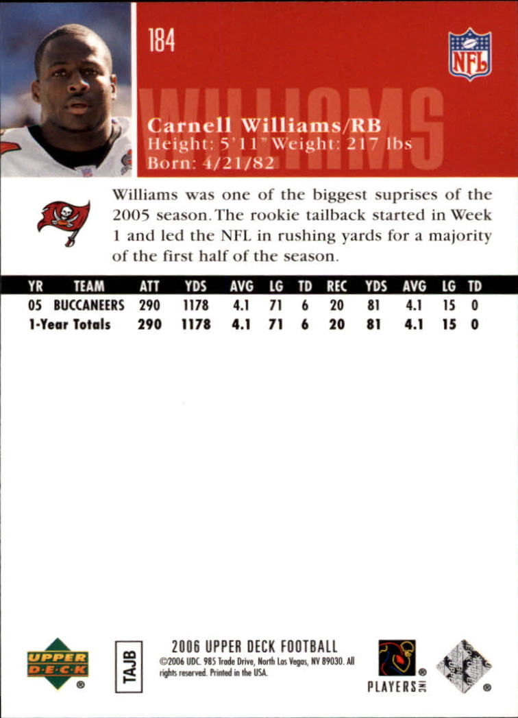 2006-Upper-Deck-Football-Card-s-1-200-A2099-You-Pick-10-FREE-SHIP thumbnail 357