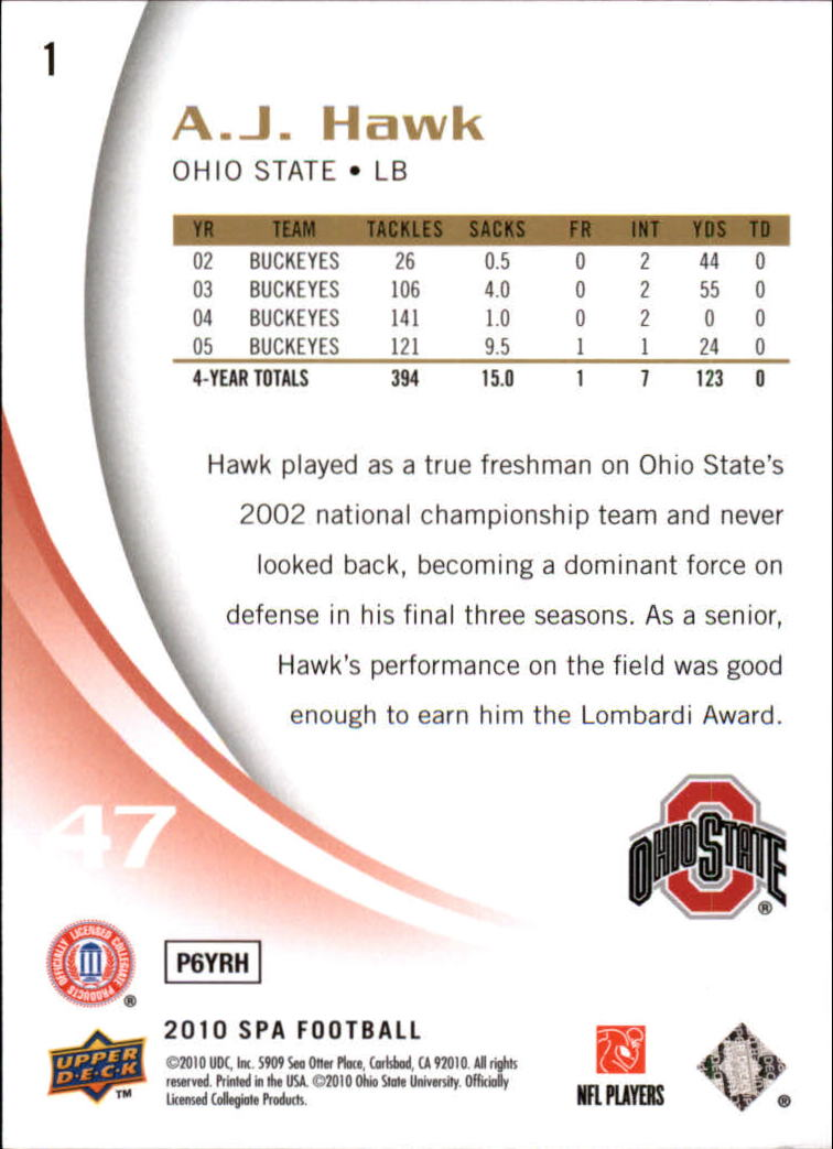 2010-SP-Authentic-Football-Card-s-1-100-A1730-You-Pick-10-FREE-SHIP thumbnail 3