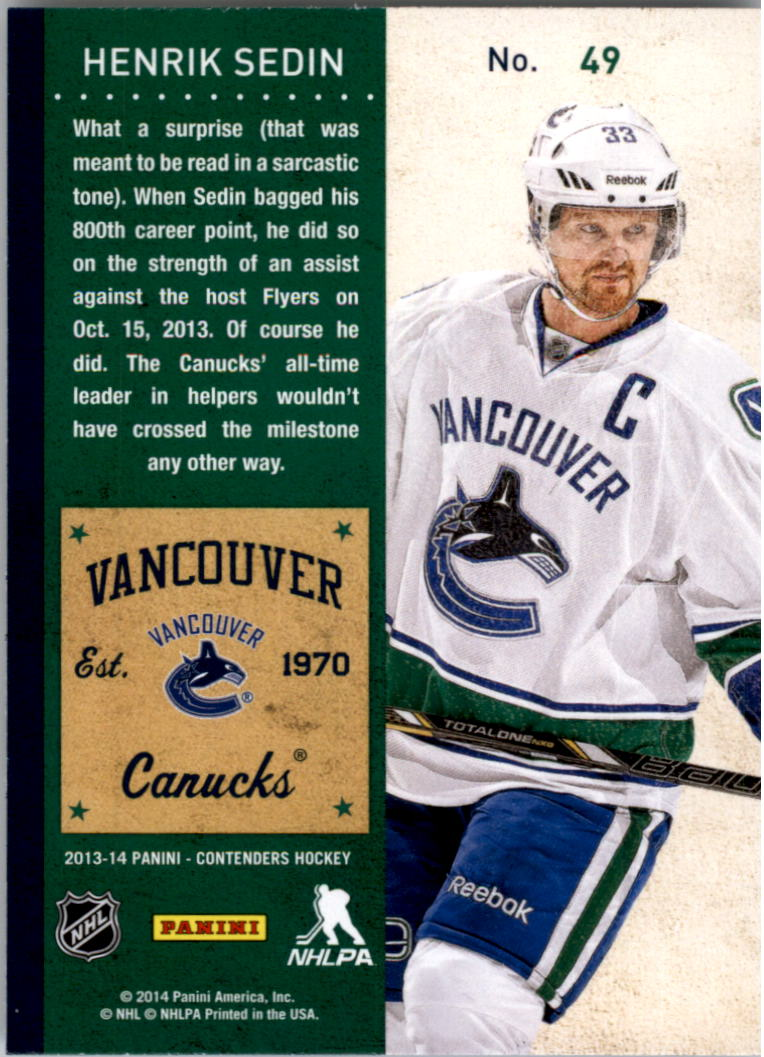 2013-14-Panini-Contenders-Hockey-Pick-Card-From-List thumbnail 73