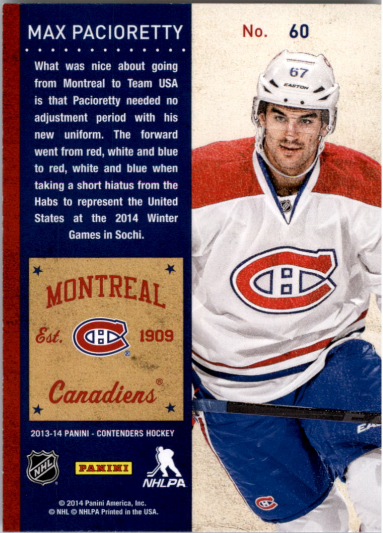 2013-14-Panini-Contenders-Hockey-Pick-Card-From-List thumbnail 91