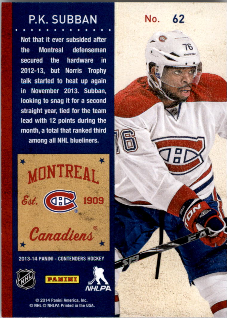 2013-14-Panini-Contenders-Hockey-Pick-Card-From-List thumbnail 95