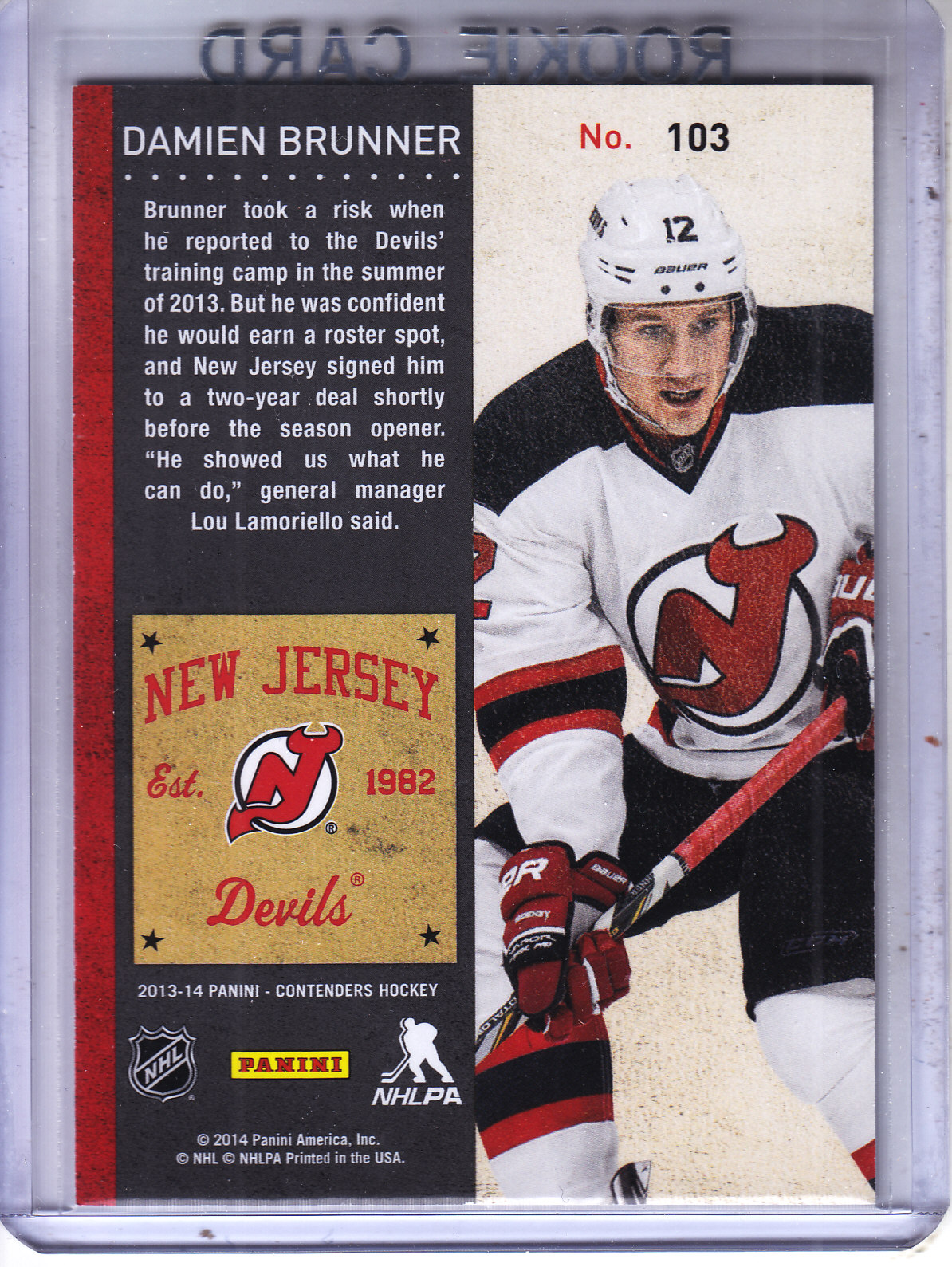 2013-14-Panini-Contenders-Hockey-Pick-Card-From-List thumbnail 153