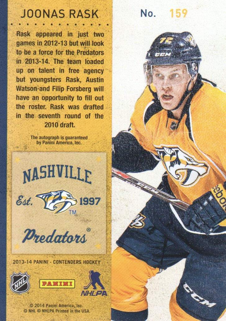 2013-14-Panini-Contenders-Hockey-Pick-Card-From-List thumbnail 157