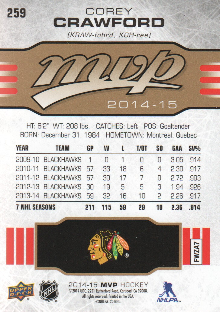 2014-15-Upper-Deck-MVP-Hk-251-SP-039-s-Inserts-U-Pick-Buy-10-cards-FREE-SHIP thumbnail 17