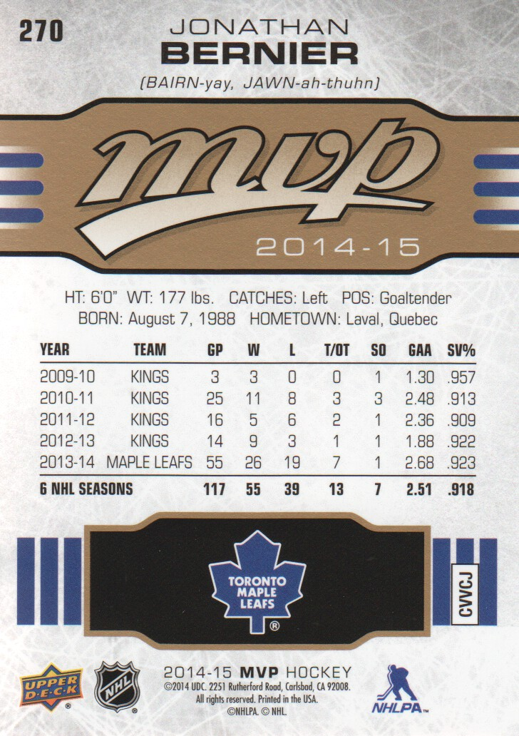 2014-15-Upper-Deck-MVP-Hk-251-SP-039-s-Inserts-U-Pick-Buy-10-cards-FREE-SHIP thumbnail 37