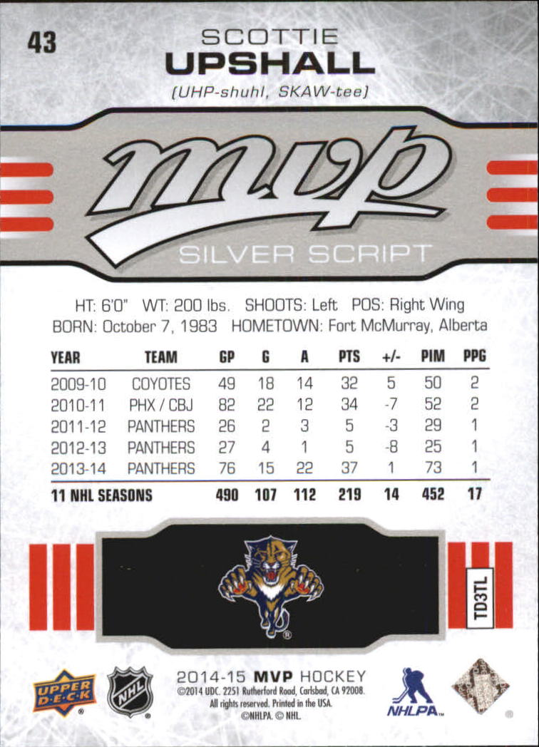 2014-15-Upper-Deck-MVP-Hk-251-SP-039-s-Inserts-U-Pick-Buy-10-cards-FREE-SHIP thumbnail 164