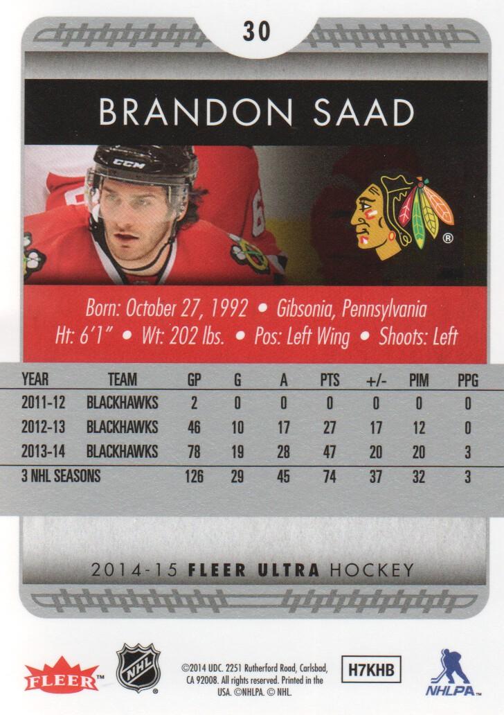 2014-15-Ultra-Hockey-Card-s-1-200-Rookies-You-Pick-Buy-10-cards-FREE-SHIP thumbnail 59