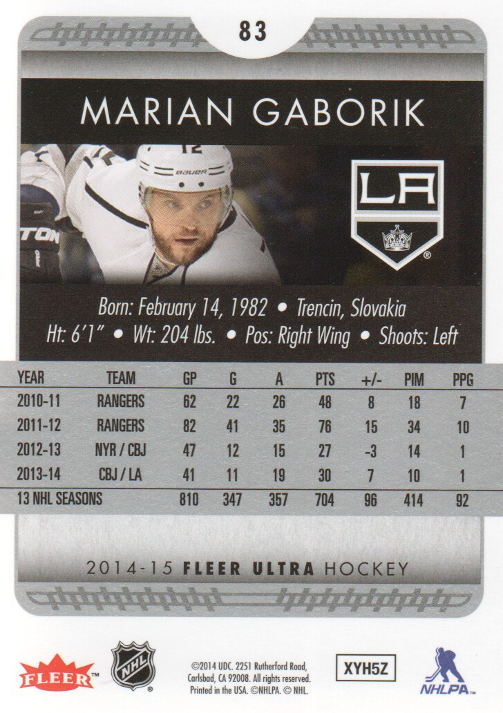 2014-15-Ultra-Hockey-Card-s-1-200-Rookies-You-Pick-Buy-10-cards-FREE-SHIP thumbnail 165