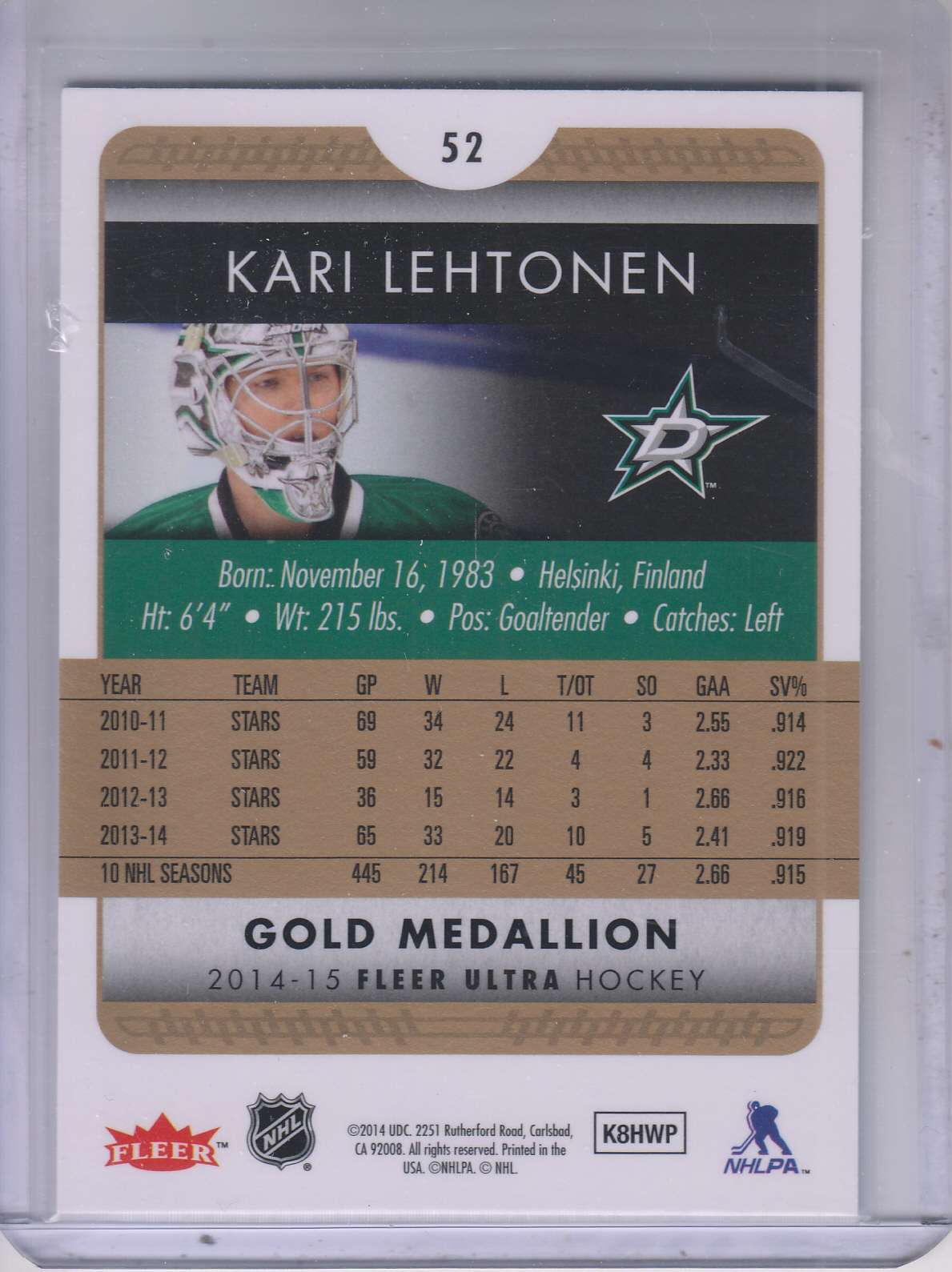 2014-15-Ultra-Hk-Base-Gold-Inserts-Rookies-You-Pick-Buy-10-cards-FREE-SHIP thumbnail 74