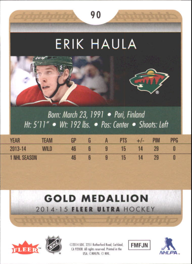 2014-15-Ultra-Hk-Base-Gold-Inserts-Rookies-You-Pick-Buy-10-cards-FREE-SHIP thumbnail 111