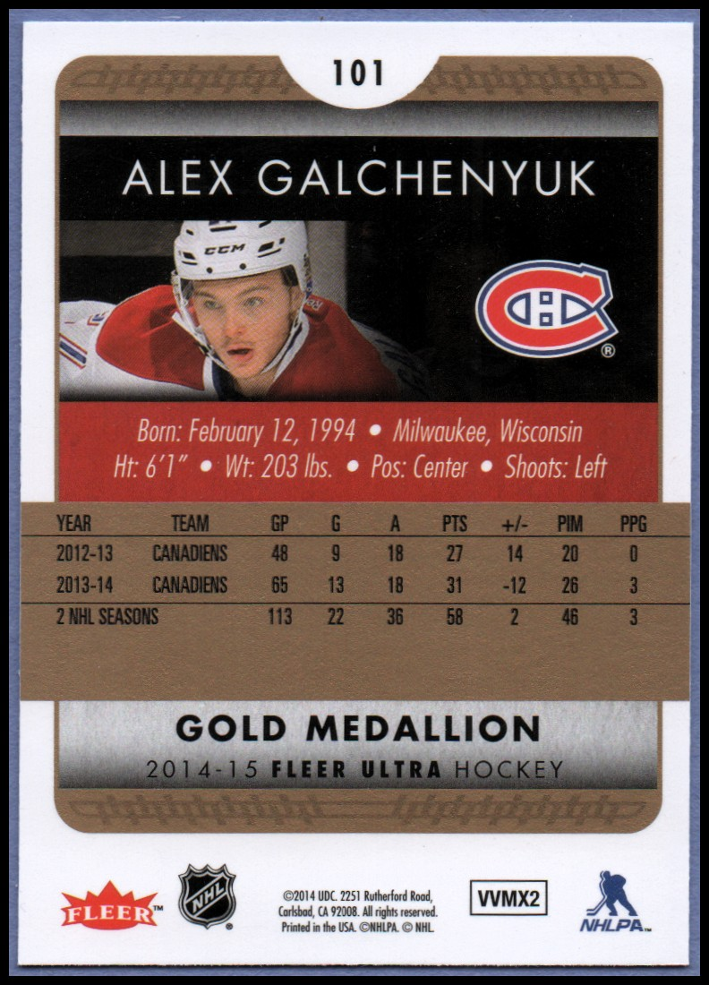 2014-15-Ultra-Hk-Base-Gold-Inserts-Rookies-You-Pick-Buy-10-cards-FREE-SHIP thumbnail 119