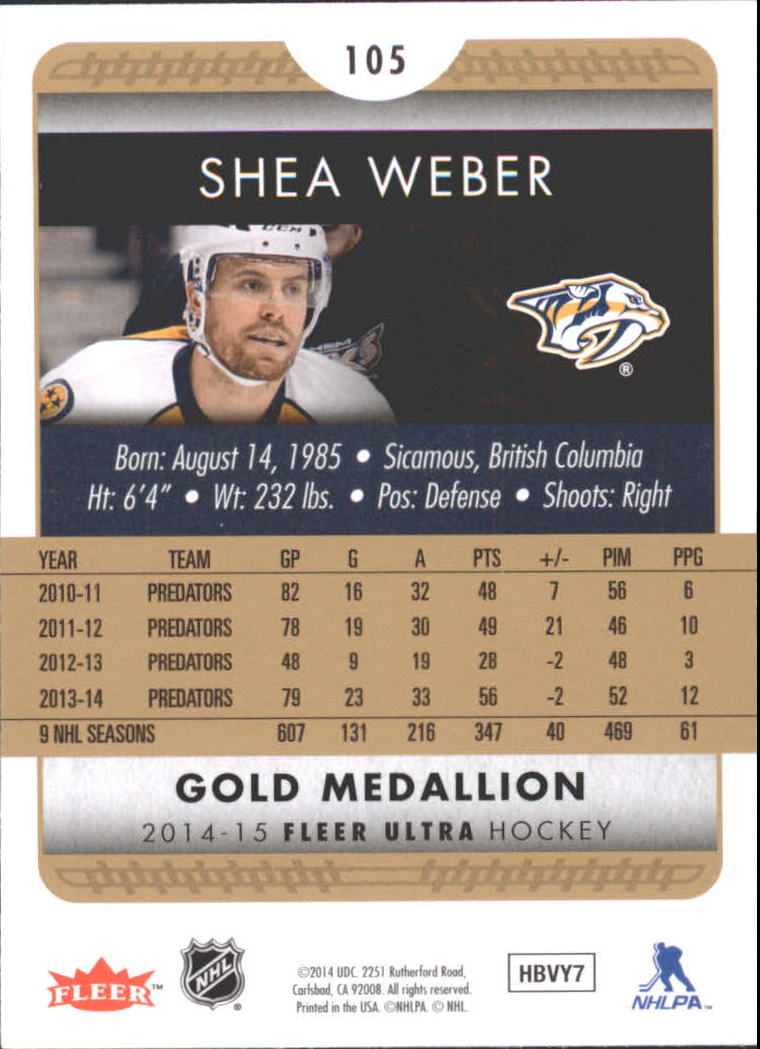 2014-15-Ultra-Hk-Base-Gold-Inserts-Rookies-You-Pick-Buy-10-cards-FREE-SHIP thumbnail 124