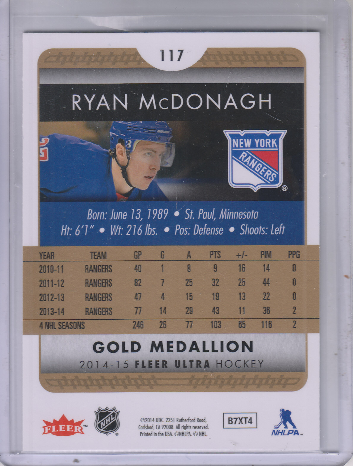 2014-15-Ultra-Hk-Base-Gold-Inserts-Rookies-You-Pick-Buy-10-cards-FREE-SHIP thumbnail 128