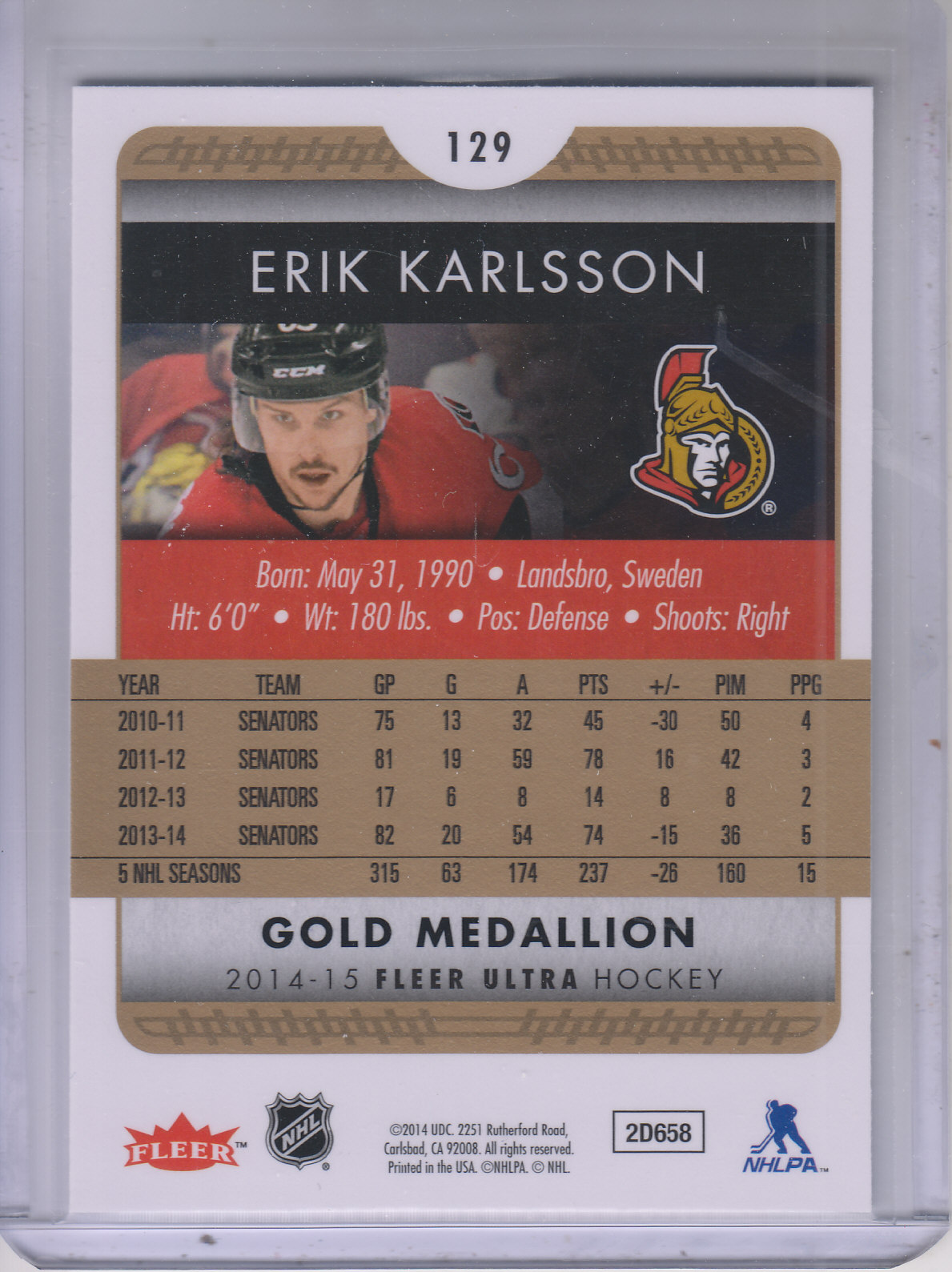 2014-15-Ultra-Hk-Base-Gold-Inserts-Rookies-You-Pick-Buy-10-cards-FREE-SHIP thumbnail 133