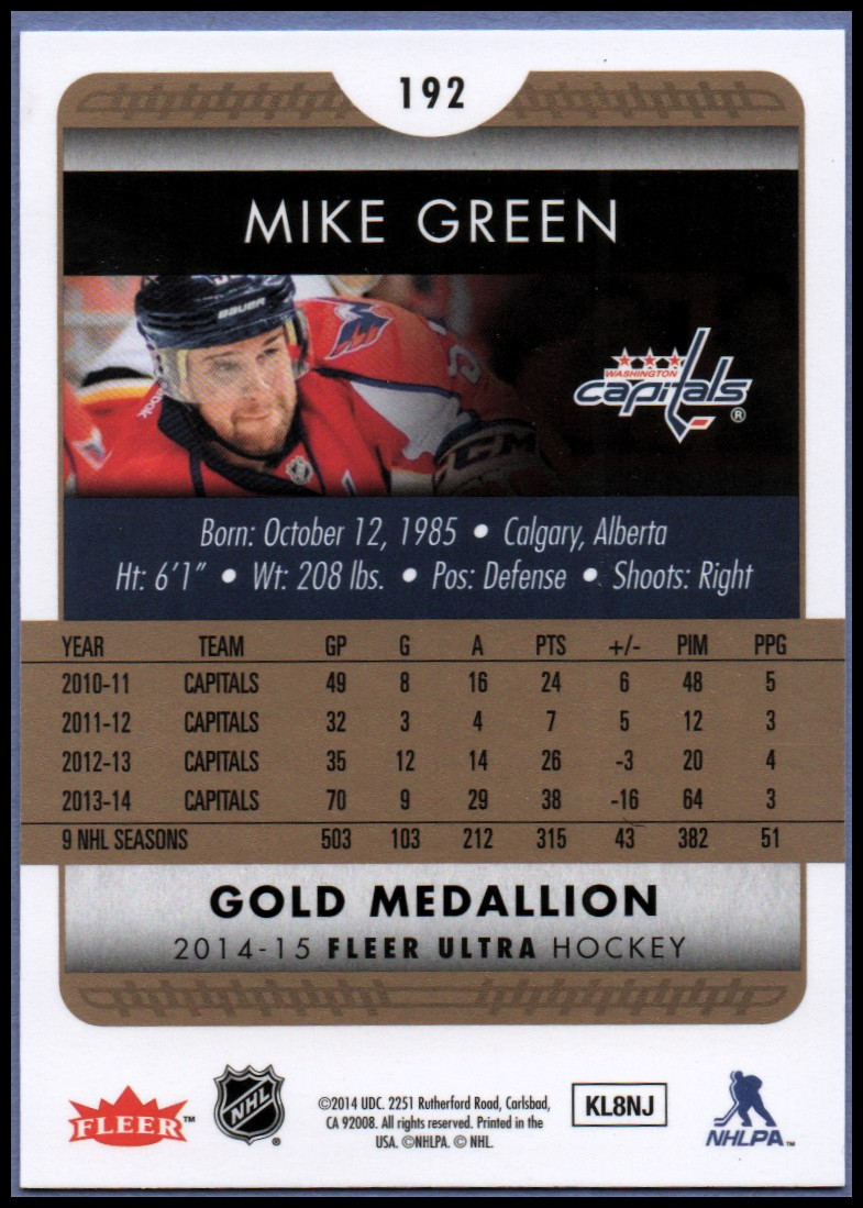 2014-15-Ultra-Hk-Base-Gold-Inserts-Rookies-You-Pick-Buy-10-cards-FREE-SHIP thumbnail 183