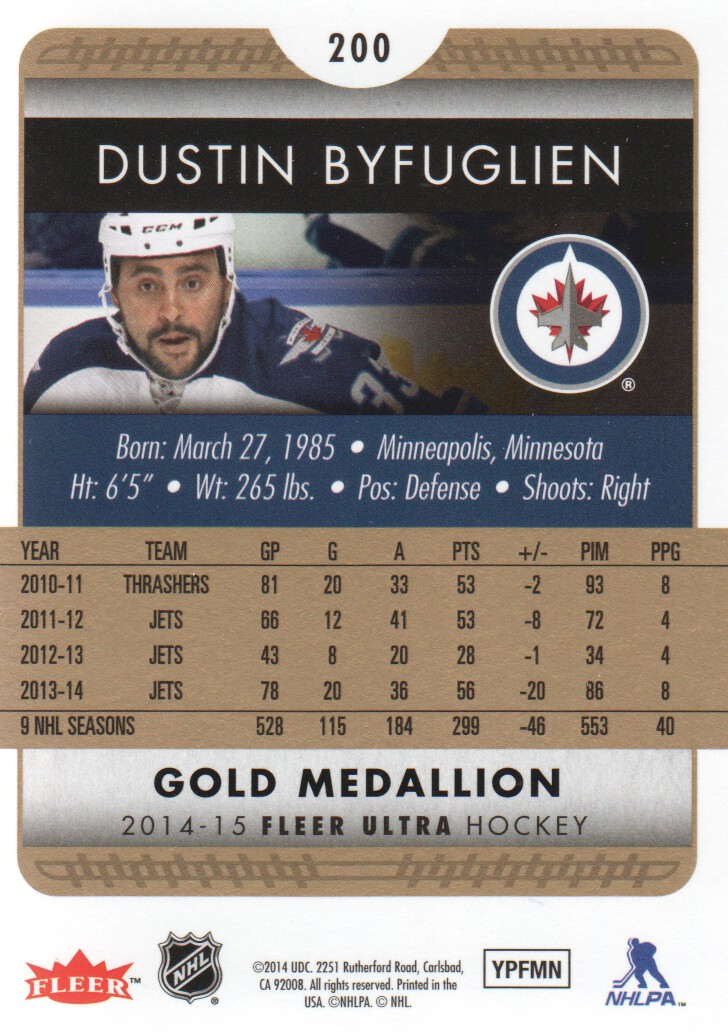 2014-15-Ultra-Hk-Base-Gold-Inserts-Rookies-You-Pick-Buy-10-cards-FREE-SHIP thumbnail 193