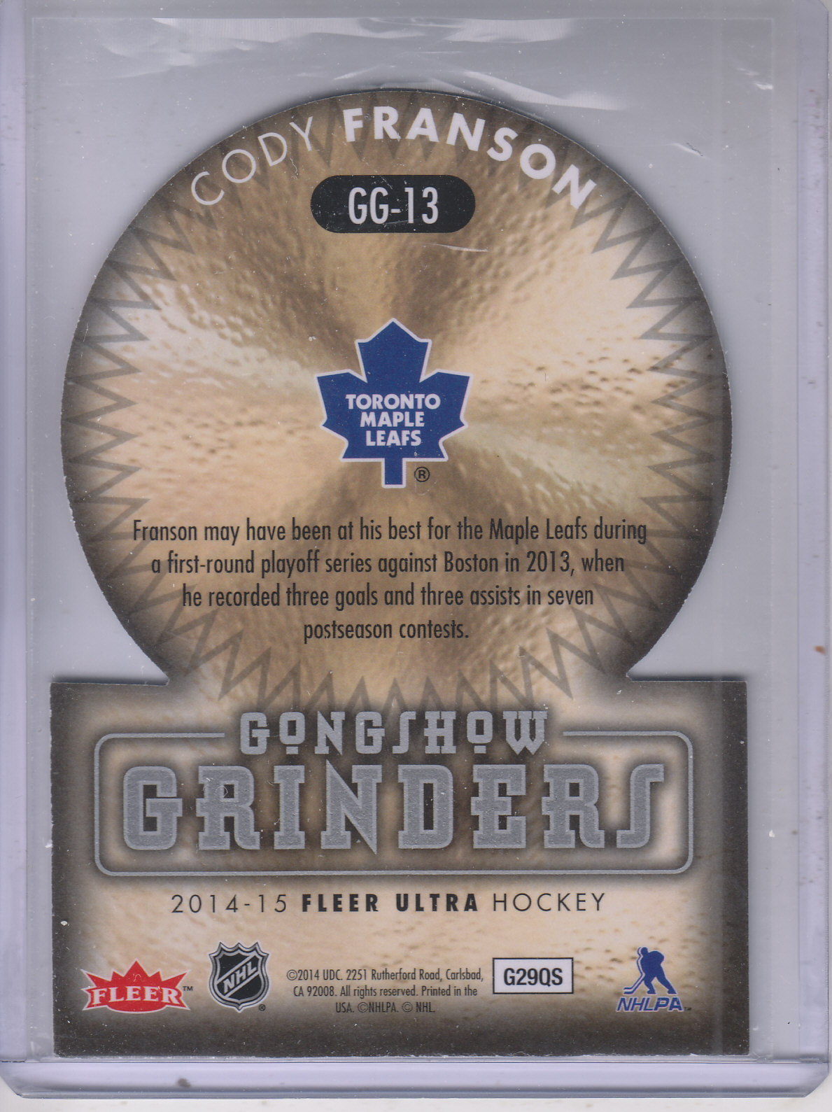 2014-15-Ultra-Hk-Base-Gold-Inserts-Rookies-You-Pick-Buy-10-cards-FREE-SHIP thumbnail 203