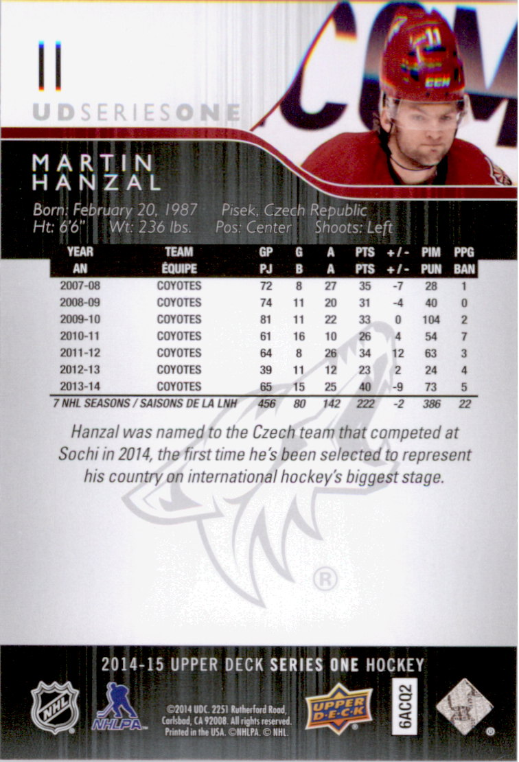 2014-15-Upper-Deck-Hk-Card-s-1-250-Rookies-U-Pick-Buy-10-cards-FREE-SHIP thumbnail 23
